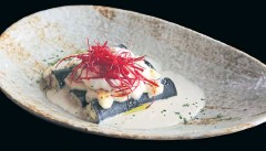 ??  ?? The squid-ink cannelloni stuffed with seafood and ricotta cheese at Giorgio's, Royal Orchid Sheraton.