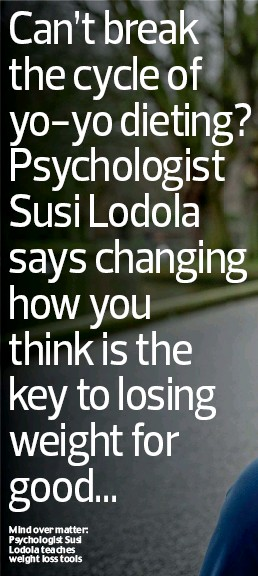 ??  ?? Mind over matter: Psychologist Susi Lodola teaches weight loss tools