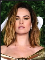 ??  ?? Lily James] See Question 6.