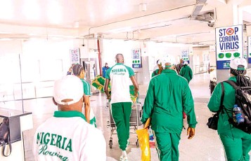??  ?? Team Nigeria has arrived in Japan for the Tokyo 2020 Olympic Games