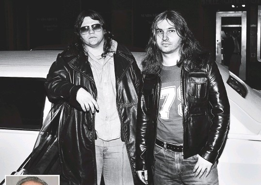 ?? SKY TV/GETTY IMAGES ?? Jim Steinman, right, with Meat Loaf in 1977, the year was famously reclusive and prone to dark moods.