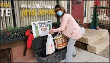 ?? SUBMITTED PHOTO ?? The Richard A Zuber Realty community food drive concluded on Martin Luther King's National Day of Service on Jan. 18. Pictured collecting donations dropped off at the Boyertown office is Heidi Sollinger, administrative assistant with Zuber Realty, Boyertown.