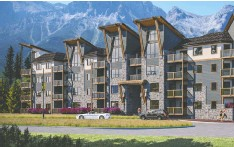 ?? SPRING CREEK ?? Artist's rendering of the exterior of Spring Creek's Jack Pine Lodge, coming to Canmore.