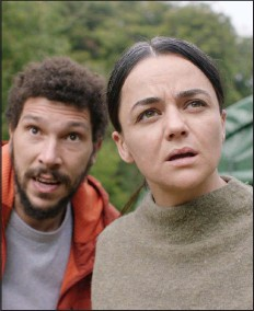 """??  ?? Dr. Martin Lowery (Joel Fry) and pragmatic park ranger Alma (Ellora Torchia) set off on a two-day hike to find a scientist who hasn't been heard from in months in """"In the Earth."""""""