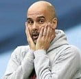 ??  ?? A Manchester City penalty miss left manager Pep Guardiola astounded.