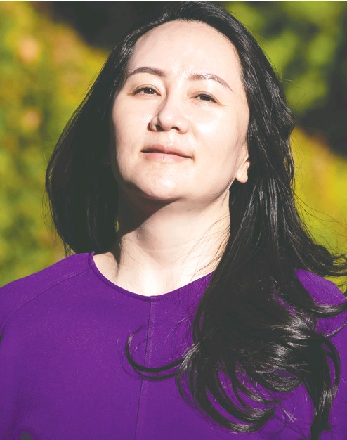 ?? Da rryl Dyck / the Cana dian press ?? Meng Wanzhou leaves her home on Tuesday to attend a court hearing in Vancouver.