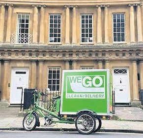 ??  ?? WEGO Couriers offers a local, zero-emission cargo bike delivery service