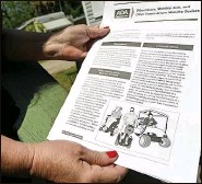 ??  ?? An Americans With Disabilities Act document illustrates the uses of various devices for mobility.