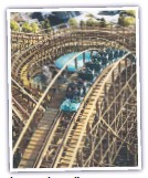 ??  ?? The Leviathan roller coaster.