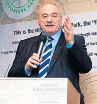 ??  ?? Scottish FA president, Rod Petrie, is a happy man