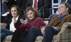 ?? RICHARD SHOTWELL/INVISION/THE ASSOCIATED PRESS ?? Laurie Metcalf, Roseanne Barr and John Goodman. Roseanne returns to TV on March 27. One storyline might involve a family divide over politics.