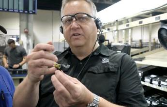 ??  ?? Ed Schultz, SIG's Airgun Engineering Manager, explains the Matchlite trigger.