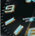 ??  ?? Close-up on the Oyster Perpetual Explorer dial