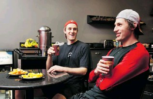 ??  ?? Kyle Turris, left, and teammate Patrick Wiercioch grew up together in Burnaby. Wiercioch says the Senators have taught him much about nutrition and that it has made a difference in his game.