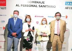 ??  ?? Ángel de Benito, Marta Villanueva, Margarita Alfonsel y Juan Abarca