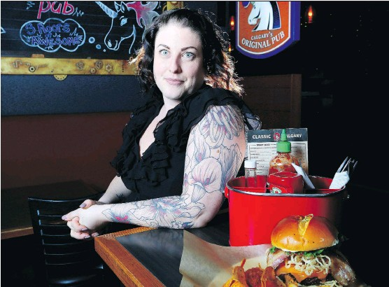 ?? PHOTOS: LEAH HENNEL ?? Mel Lafleur, executive chef at the Unicorn Superpub, says the new pub tries to support as many local producers as possible.
