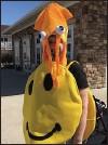 ??  ?? Resident Pat Sauder wears a squid hat.