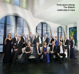 ??  ?? Forty years strong: The Sixteen celebrates in style