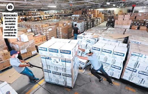 ?? FOTOS: EL HERALDO ?? Medicinas Durante la pandemia se realizó una gran cantidad de compras de medicinas.