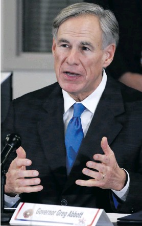 ??  ?? Texas Governor Greg Abbott has dismissed the issue of rape, claiming that Texas aims to eliminate the crime. Photo: Larry W Smith/EPA-EFE