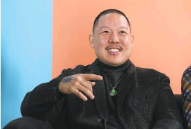 """?? Phillip Faraone / Getty Images for New York Magazine 2020 ?? Huang is known for his restaurants, his travel show and his memoir """"Fresh Off the Boat,"""" which inspired an ABC sitcom."""