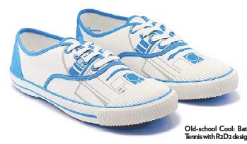 ??  ?? Old-school Cool: Bata Tennis with R2D2 design