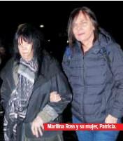 ??  ?? Marilina Ross y su mujer, Patricia.