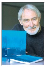 ??  ?? Launching book: Writer Alan Mathews with his book Blackbird Singing.