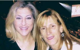 ?? (Courtesy) ?? LINDA MARCH (right) with her friend Paula Silverman.