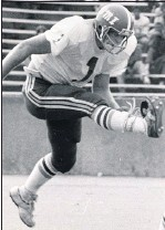 ?? 1980, TIMES-DISPATCH ?? Lee Wimbish kicked for the 6-3-1 VMI team from 1981, the last Keydets team to finish with a winning record. This year's Keydets are 5-1.