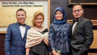 ??  ?? Dang Tai Kien, Lim Wee Nee, Cassandra Adlin and Nizam Ahamed