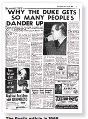 ??  ?? The Post's article in 1968
