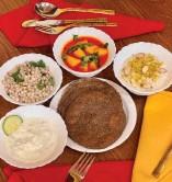 ?? Photo by Tatta Chulha. ?? Vancouver's first Rajasthani restaurant serves up several veggie thalis.