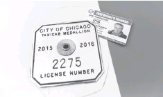 ??  ?? The value of taxi medallions in Chicago has sharply declined since 2013 and sales have ground to a near halt.