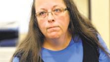 "?? Timothy D. Easley / Associated Press ?? Rowan County Clerk Kim Davis invoked ""God's authority"" as she defied the U.S. Supreme Court on same-sex marriage."