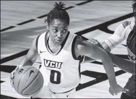 ?? LOGANWHITTON ?? VCU freshman Sarah Te- Biasu has started all six games this season, and averages 12.5 points, 4.2 rebounds and 3.7 assists.