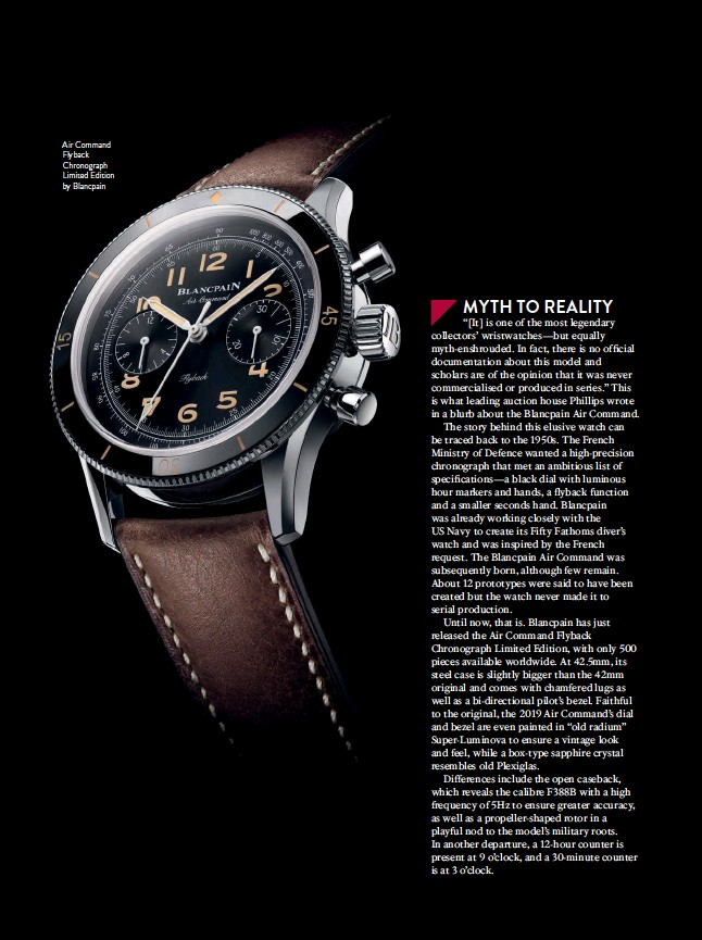 ??  ?? Air Command Flyback Chronograph Limited Edition by Blancpain