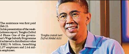 ??  ?? Tengku Datuk Seri Zafrul Abdul Aziz
