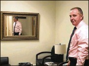 """?? CORNELIUS FROLIK / STAFF ?? Dayton police Major Brian Johns, commander of investigations and administrative services, in the """"soft room"""" of the special victims unit."""
