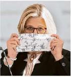 ??  ?? Anke Rehlinger, saarländische Verkehrsministerin (SPD) und Leiterin der Verkehrsministerkonferenz der Länder.