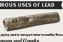 ??  ?? Lead piping used to transport water to wealthy Romans' villas