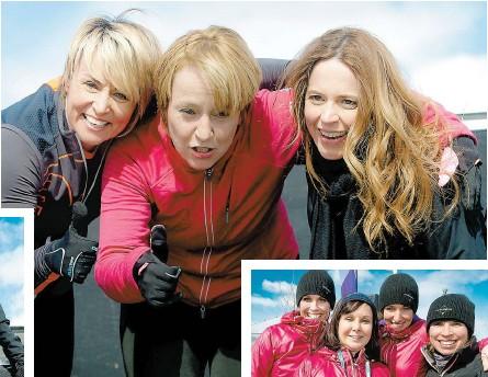 ??  ?? En solo, en famille, en équipe de travail ou entre amis, les citoyens peuvent participer à plusieurs activités hivernales. La médaillée olympique Sylvie Bernier, la mairesse de Longueuil, Caroline St-Hilaire, et la dynamique Julie Snyder ont participé...
