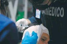 ??  ?? Contusiones, heridas, estado de asfixia o intoxicación fueron los cuadros más comunes.