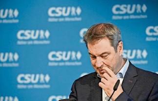 """??  ?? """"Ohne Groll"""": CSU-Chef Markus Söder überlässt seinem Kontrahenten das Feld als Kanzlerkandidat der Union."""