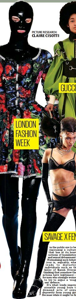 ??  ?? LONDON FASHION WEEK PICTURE RESEARCH: CLAIRE CISOTTI