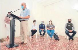 ?? Foto Cortesía. ?? El alcalde Jairo Yáñez presentó el plan de intervención a los líderes de la Comuna 9./