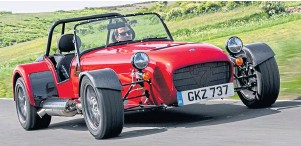 ??  ?? The temperature is rising (a bit) so when lockdown lifts, why not wrap up and head out in the Caterham Seven, left, or head for the hills in the Peugeot E-208?