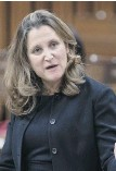 ??  ?? Chrystia Freeland in the House of Commons this week.