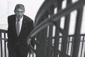 ?? GETTY IMAGES ?? Sen. Joe Manchin, D- W. Va., has concerns about the amount of spending his colleagues propose.