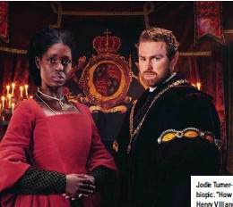 """??  ?? Jodie Turner-Smith and Mark Stanley in Channel 5's biopic. """"How many more times do we need to see Henry VIII and Anne Boleyn?"""" asked Mark Koyama"""